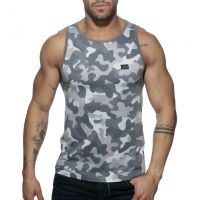 "Майка - безрукавка ""Washed Camo Tank Top - Camouflage / Charcoal"""