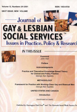 Journal of Gay & Lesbian Social Services. Volume 12, Number 3-4 / 2001