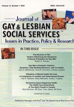 Journal of Gay & Lesbian Social Services. Volume 14, Number 1 / 2002
