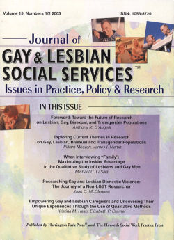 Journal of Gay & Lesbian Social Services. Volume 15, Number 1-2 / 2003