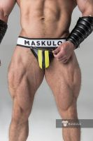"Трусы-джоки ""Armored - Men's Fetish Jockstrap - Yellow"""