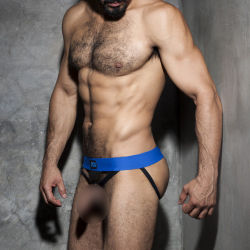 "Трусы-джоки / бандаж ""Fetish Cockring Double Jock - Royal Blue"""