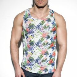 "Майка-безрукавка ""Tropic Floral Tank Top - White"" (SALE!)"