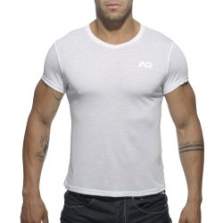 "Футболка ""Basic V-Neck T-Shirt - White"""