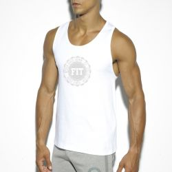 "Майка - безрукавка ""Basic Cotton Fit Tank Top - White"""