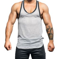 "Майка - безрукавка ""Athletic Mesh Tank - Heather Grey"""