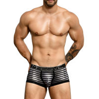 "Трусы-боксеры ""Massive Glam Stripe Boxer - Black / Silver"" (SALE!)"