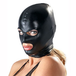"Маска ""Bad Kitty - 3 Hole Hood Wetlook Black"""