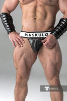 "Трусы-джоки ""Armored - Men's Fetish Jockstrap - Black"""