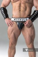 "Трусы-джоки ""Armored - Men's Fetish Jockstrap - Navy"""