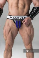 "Трусы-джоки ""Armored - Men's Fetish Jockstrap - Royal Blue"""