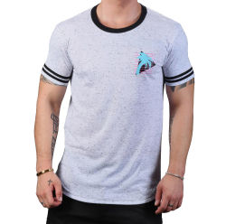 "Футболка ""California Muscle Beach Tee - White / Black"""