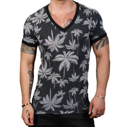 "Футболка ""Palm Burnout Deep V-Neck Tee"""